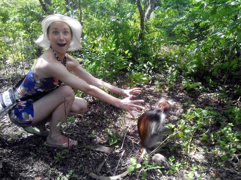 Парк обезьян Занзибара