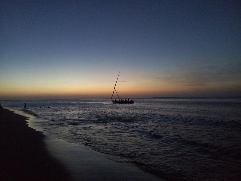 Фото заката на Занзибаре