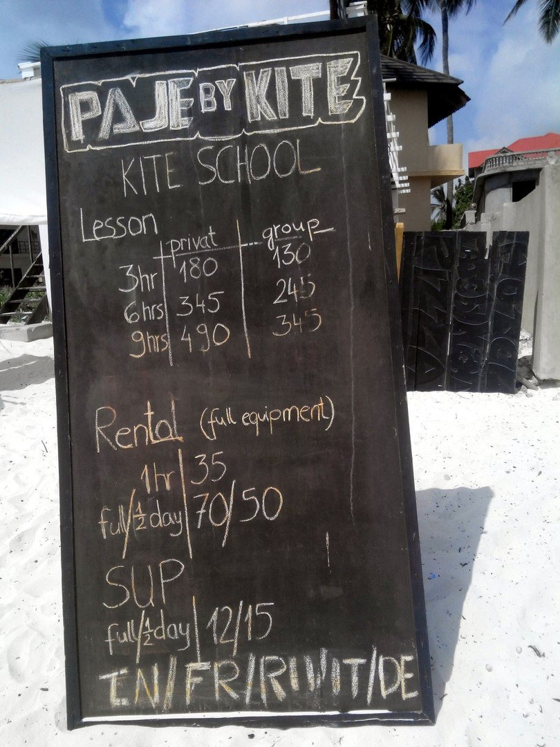 кайтсерфинг цены Занзибар