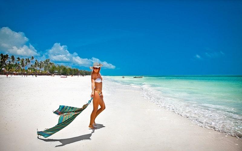 белоснежные пляжи занзибара