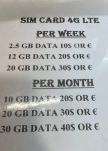 цены на интернет занзибар