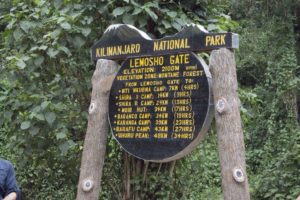 Старт восхождения по маршруту Лемошо