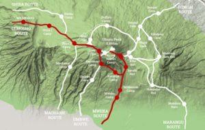 Маршрут Лемошо Килиманджаро карта