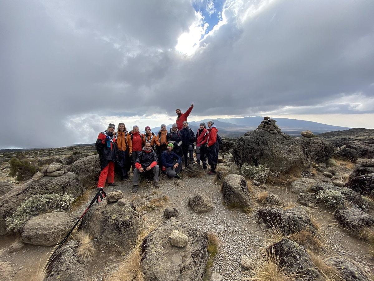 Группа восхождения на Килиманджаро